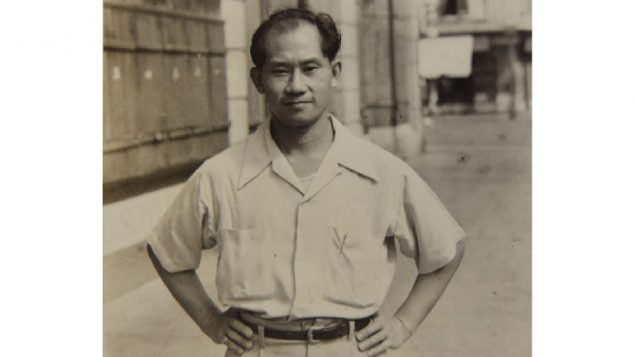 William Gun Chong circa 1943. Photo presumably taken between missions when he was often dressed in worn clothes as a homeless peasant to avoid Japanese forces attention as he carried out his missions ( via Chinese Canadian Military Museum)