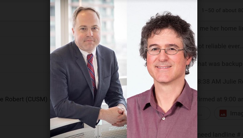 L-R: Michael Taylor, M.D. from Sick Children's Hospital in Toronto and Lincoln Stein, PhD from the Ontario Institute for Cancer Research (OICR) are important contributors in the discovery. ( SickKids and OICR)