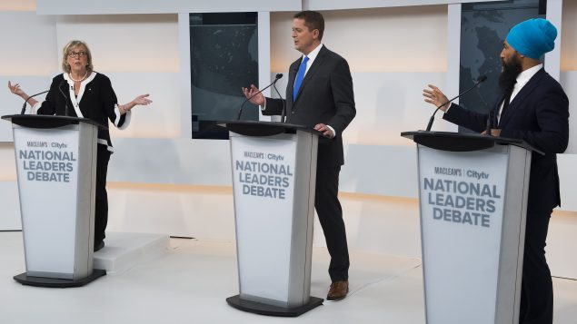 Trudeau skips first debate, draws fire from other party leaders