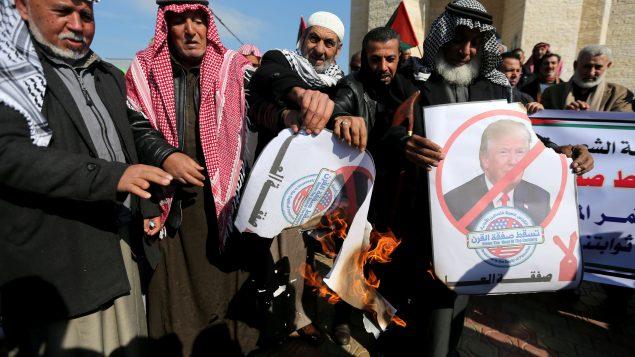 US Leader Trump Presents Mideast Peace Plan