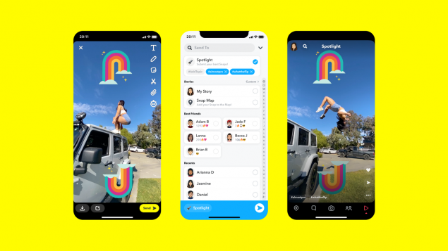 Snapchat launches Spotlight, a TikTok-like short video function