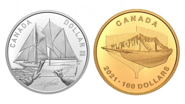 Royal Mint commemorates legendary Canadian schooner with gold and silver coins