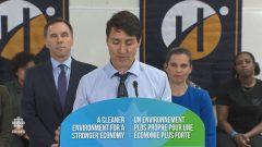 رئيس الحكومة جوستان ترودو أشار إلى التحدّي الكبير الذي يمثّله التغيّر المناخي وكشف عن خطّة حكومته لمواجهته/CBC/هيئة الاذاعة الكنديّة