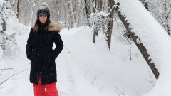 الطقس الشديد البرودة أحد التحدّيات التي واجهت الشابّة الجامعيّة الجزائريّة فايزة عكّوش في كندا/فايزة عكّوش