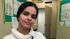 الشابّة السعوديّة رهف محمّد القنون تحدّثت لتلفزيون سي بي سي هيئة الاذاعة الكنديّة عن معاناتها النفسيّة والجسديّة في بلدها/Sylvia Thomson/CBC/هيئة الاذاعة الكنديّة