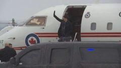 رئيس الحكومة جوستان ترودو لدى وصوله إلى مدينة شربروك في 16-01-2019/ Radio-Canada