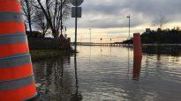 المياه غمرت المنازل في مدينة غاتينو في غرب مقاطعة كيبيك/Simon-Marc Charron/Radio-Canada