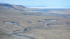 Over the past few years, due to higher summer temperatures, scientists have seen an increase in landforms that are caused by melting ice in the permafrost.