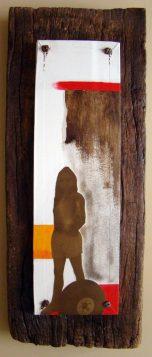 La Madera también sirve para contrastar trazos, colores y figuras.