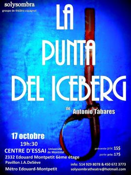 La Punta del Iceberg de Antonio Tabares, por el gurpo de teatro Sol y Sombra.