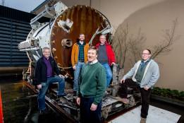 Microsoft Project Natick team: Ben Cutler , Jeff Kramer , Spencer Fowers , Eric Peterson and Norm Whitaker el 12 de enero de 2016. (Foto: Scott Eklund/Red Box Pictures)