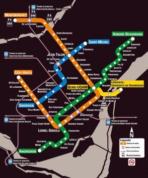 Plan del metro de Montreal (STM)