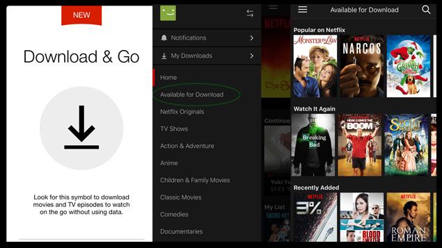 Netflix permite descargar películas y series para verlas dónde y