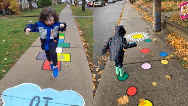 Juegos efímeros en las aceras de Toronto: antídotos al confinamiento