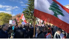 مظاهرة لأبناء الجالية اللبنانيّة في العاصمة أوتاوا تضامن مع المتظاهرين في لبنان/ Jean-François Poudrier/ Radio-Canada