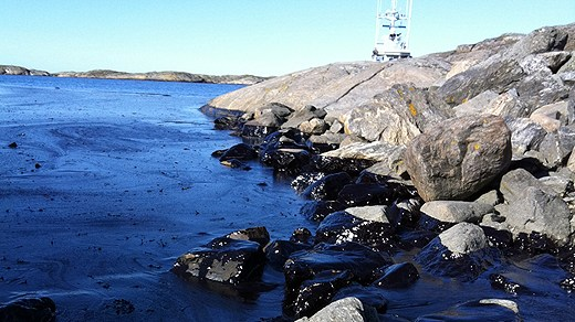 The threat for large oil spills in the Baltic Sea has increased whilst the preparedness to deal with one has decreased. Photo: Swedish Coast Guard. Radio Sweden.