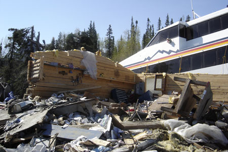 The aftermath of the 2009 floods in Eagle. (State of Alaska DOT photo)