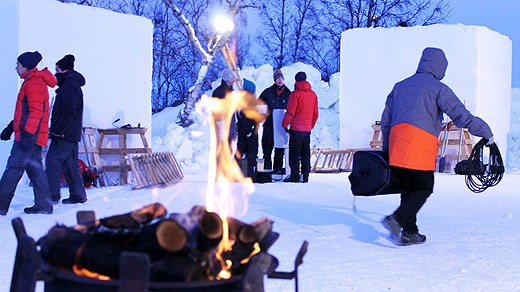 Kiruna's Snow festival kicked off on Thursday. Photo: Alexander Linder/ Swedish Radio