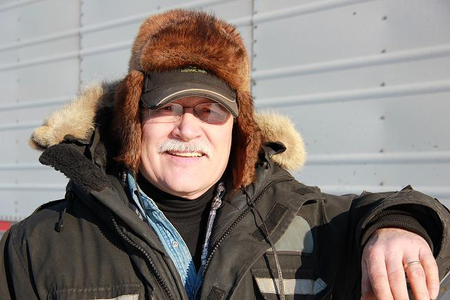 'The Fruit Man' Bill Rutherford in Inuvik, Northwest Territories. Photo: Eilís Quinn.