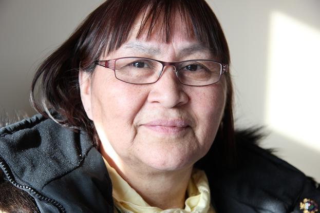 """""""I grew up in an alcoholic home ,"""" says Gina Dolphus. """"I want to help my own people so we don't see drugs and alcohol and violence but we need resources."""" Photo: Eilís Quinn, Radio Canada International."""