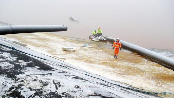 The uranium may be from a gypsum pond leak that leaked waste water into the environment last November. (Heikki Rönty / Yle)