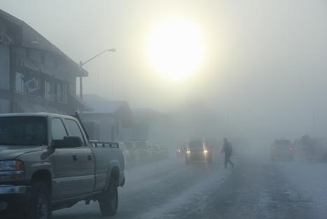 Downtown Inuvik. Photo: Eilís Quinn, Radio Canada International.