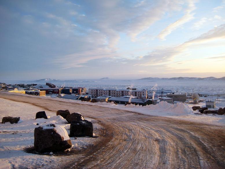 The town of Iqaluit, Nunavut. (AP Photo/Robert Gillies)