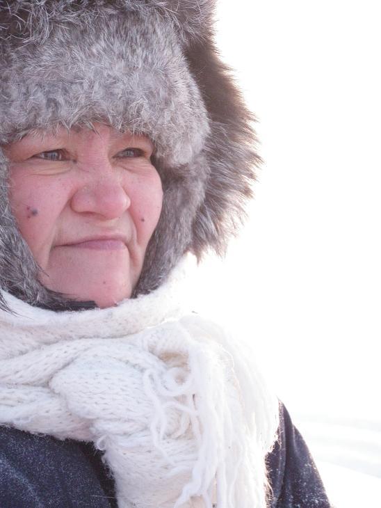 Qikiqtarjuaq resident Lavinia Curley. Photo by Eilís Quinn.