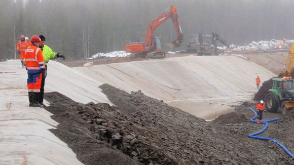 The fourth safety dam was constructed last Sunday. Image: Talvivaara / Lehtikuva