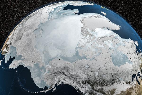 NASA image of Arctic sea ice. Photo: NASA. Alaska Dispatch