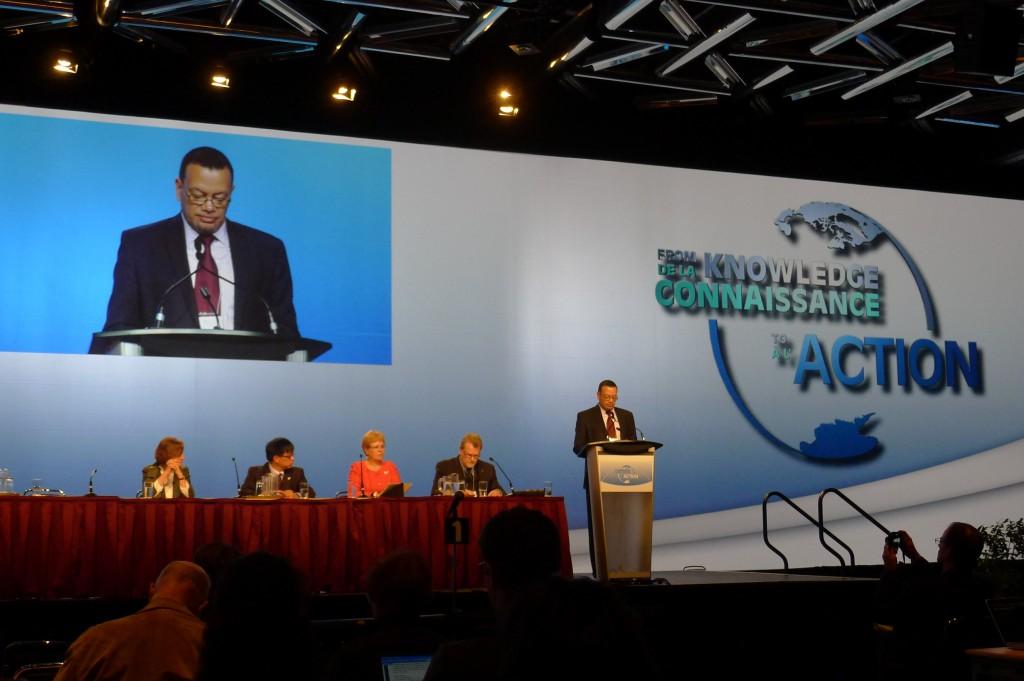 Ambassador Ronald Jumeau speaking at IPY 2012. (c) Mia Bennett