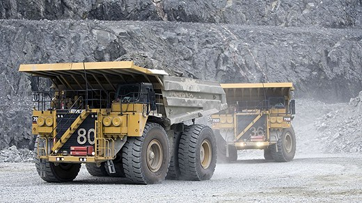 Mining trucks in the north of Sweden. File photo: Scanpix. Radio Sweden.