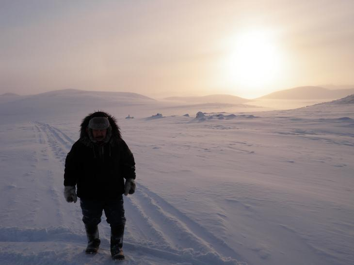 Qikiqtarjuaq hunter Pauloosie Kayootuk. Photo by Eilís Quinn.