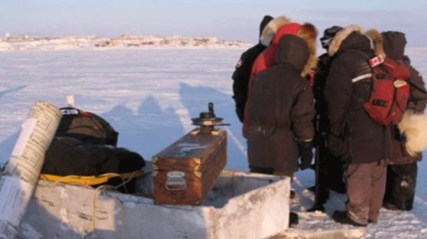 Ocean researchers are working to find out what goes on underneath the thick layers of Arctic sea ice during the winter. (Submitted by Bill Williams) CBC.ca