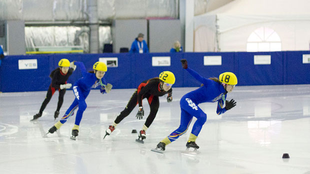 Short-track speedskating is one of the six sports being cut from the 2016 Arctic Winter Games. (Arctic Winter Games 2012)