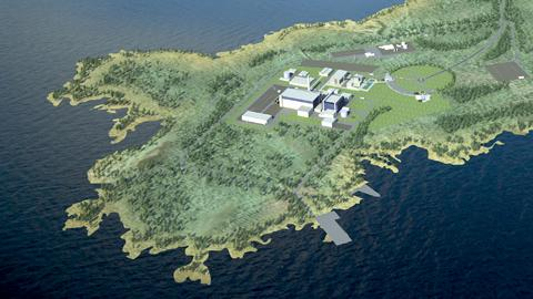 A design for the new nuclear reactor to be built in Pyhäjoki in North Finland.  Image: Fennovoima.