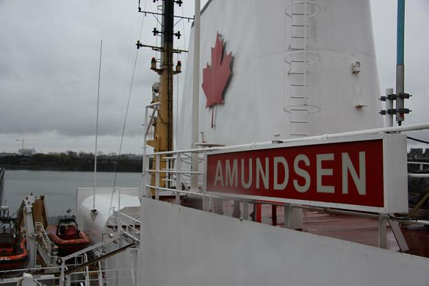 The CCGS Amundsen icebreaker docked at the Port of Montreal during the 2012 International Polar Year conference. Photo: Eilís Quinn, Radio Canada  International.