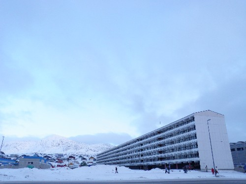 Greenlanders from villages all over the island were relocated to buildings like this in Nuuk.