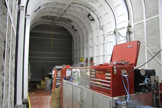 The Amundsen's helicopter 'garage'. Photo: Eilís Quinn, Radio Canada International.