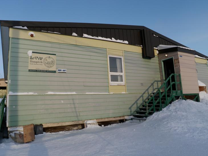 Ilisaqsivik Family Resource Centre, home of the Clyde River Knitting Circle. Photo: Eilis Quinn