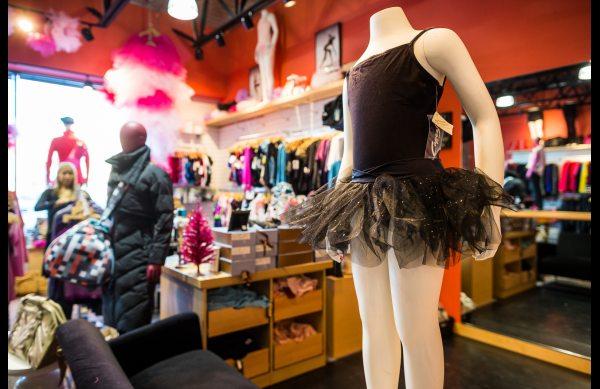 Tutus for sale at Bodyphlo, a new activewear and dancewear shop in Anchorage. Dec 7, 2012. Photo: Loren Holmes, Alaska Dispatch.