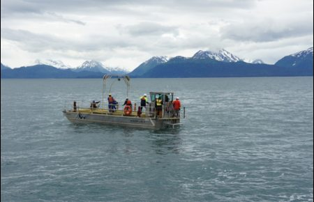 GCI cable burial operations off Homer in southern Alaska. Photo courtesy GCI. Alaska Dispatch.