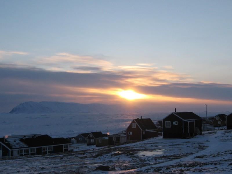 View of sea ice from Qaanaaq, Greenland. Photo Photo Lene Kielsen Holm, courtesy ICC - Greenland