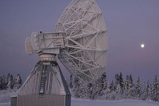 Galileo annenna at Esrange. Photo: Rymdbolaget