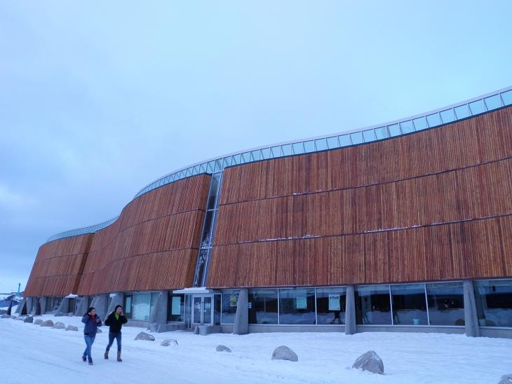 Katuaq (Greenland Culture Centre) in downtown Nuuk, Greenland's capital. Greenlandic-language plays, both traditional and modern, are staged here. Photo by Eilís Quinn.