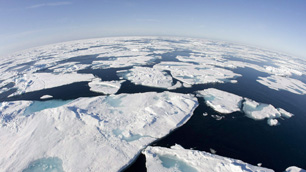 Ice patterns are seen in Baffin Bay above the Arctic Circle, which has been disproportionately affected by climate change. British historians are hoping to learn more about climate change by examining data in the logbooks of polar explorers of the 18th and 19th centuries. (Jonathan Hayward/Canadian Press)