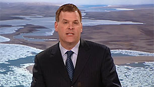 Speaking to reporters Monday in Ottawa, Environment Minister John Baird said the federal government will hold consultations on the proposed Lancaster Sound designation. (CBC)