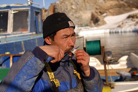 An Inuk (Inuit) fisherman from the town of Ilulissat, Greenland. Concerns have been raised about mercury levels in traditional foods. Photo: AFP.