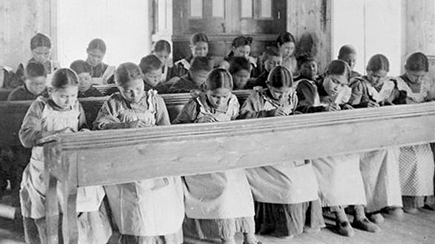 From the late 19th century onwards, aboriginal children in Canada were forced to attend government-run residential schools, where they suffered emotional, physical and sometimes sexual abuse at the hands of church teachers (Library & Archives Canada/PA-042133)