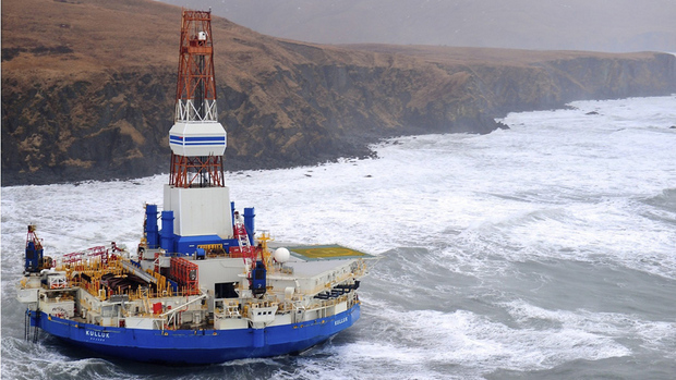 The Kulluk was refloated late Sunday after running aground near an Alaska island. U.S. Coast Guard/The Associated Press